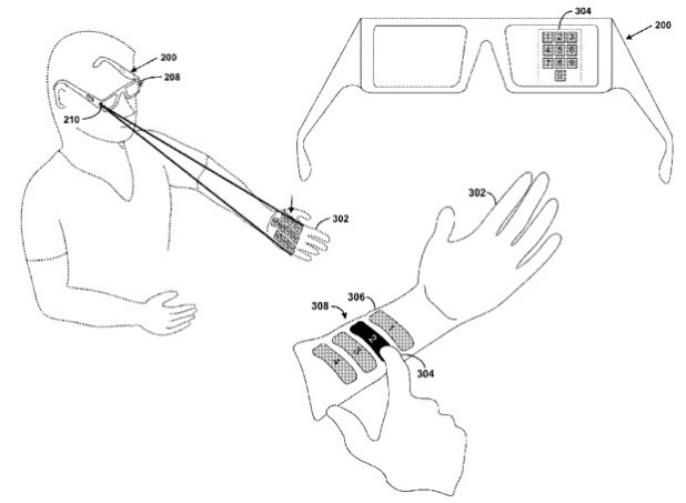 google project glass QWERTY patent