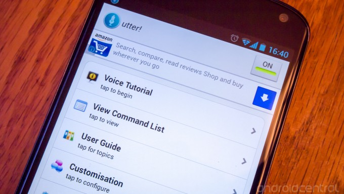 utter android voice command app