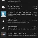 Notification dropdown