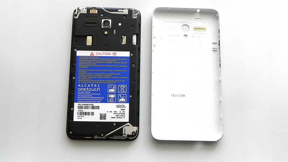 can get alcatel one touch fierce xl battery bottom
